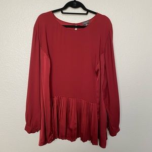 The Limited Red Pleated Career Blouse 3x
